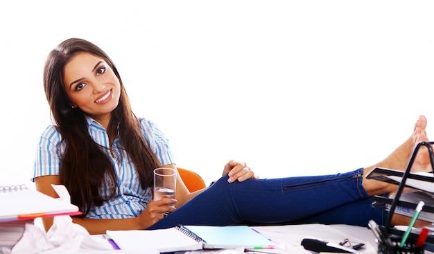 젊고 아름다운 학생 소녀 무료 사진