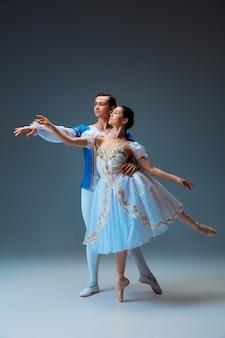 신데렐라 페어리 테일 캐릭터로 젊고 우아한 발레 댄서