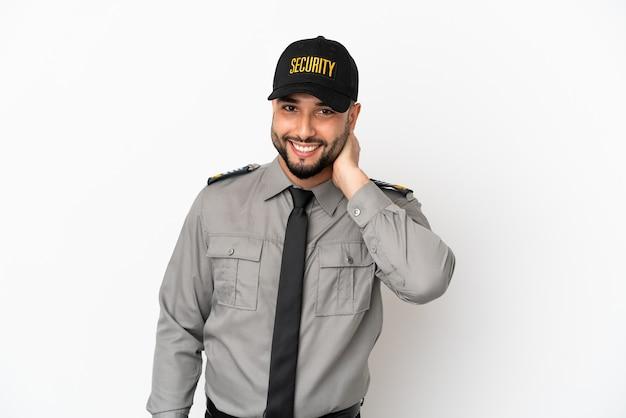 Молодой арабский человек, изолированные на белом фоне смеясь