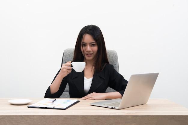 若い、アジア人、ビジネスマン、女性、