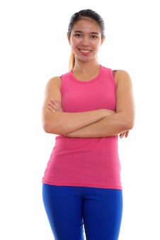 Young asian woman ready for gym