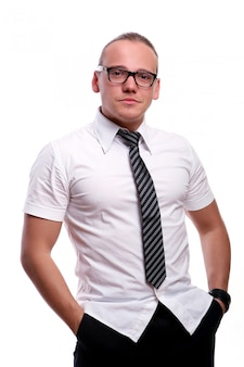 Young and attractive businessman