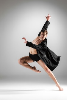 The young attractive modern ballet dancer