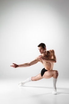 Young attractive modern ballet dancer