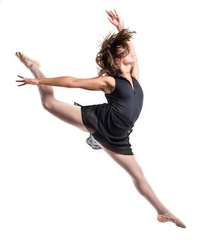 Young ballet dancer jumping