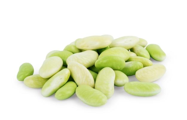 흰색 바탕에 어린 콩