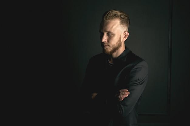 Young bearded fashion man
