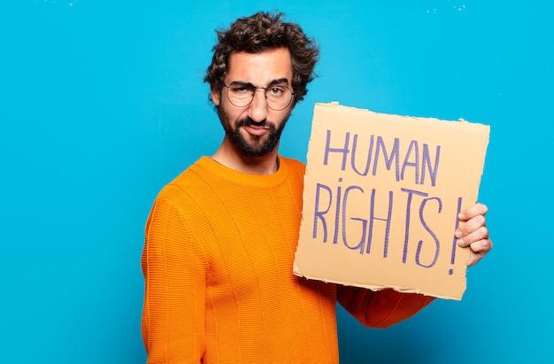 若いひげを生やした人の人権の概念