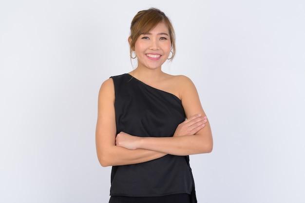 젊은 아름 다운 아시아 사업가