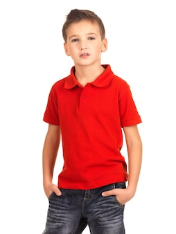 Young beautiful boy posing as a fashion model.
