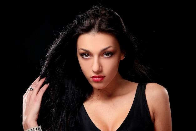 Young beautiful brunet sexy woman