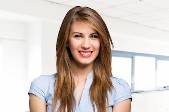 Young beautiful businesswoman portrait