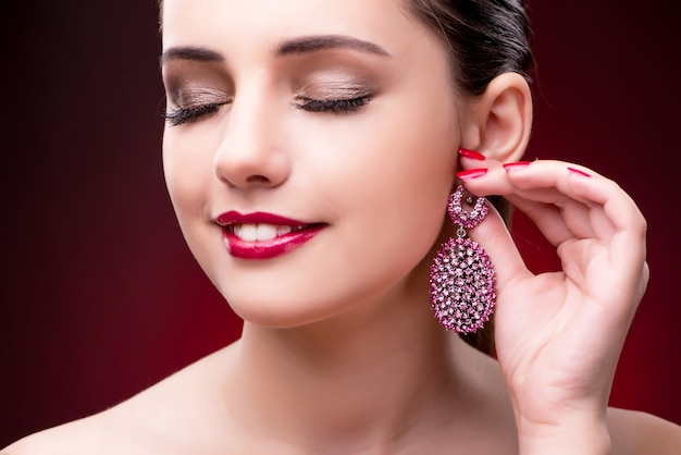 Young beautiful woman in beauty fashion concept
