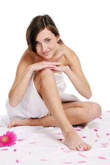Young and beautiful woman relaxing