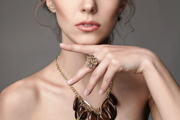 Young beautiful woman with jewelry