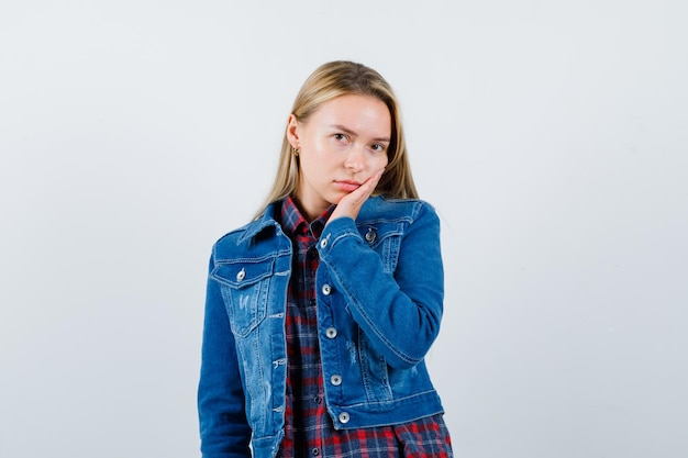 Young blonde charming female isolated Free Photo