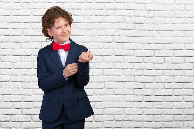 Young boy in tuxedo