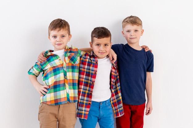 Young boys brotherhood