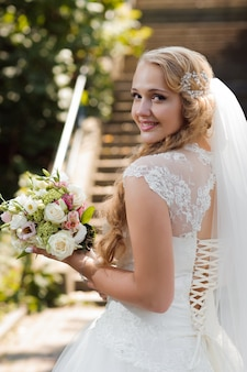 Young bride at the wedding day