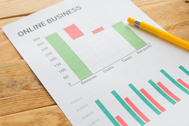 Young business busy working, entrepreneur analyzing financial information as graphics