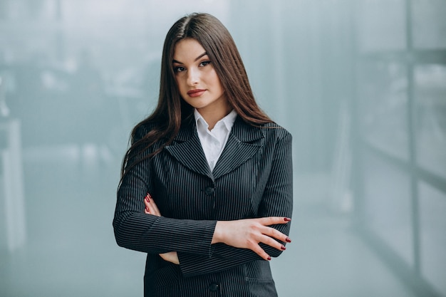 Young business woman inside the office