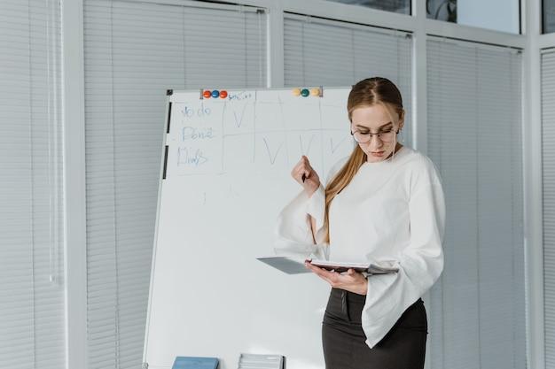 Молодые деловые женщины, работающие в офисе.