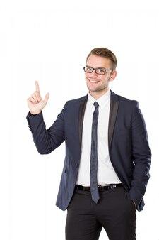 青年実業家が分離したインスピレーションを得る
