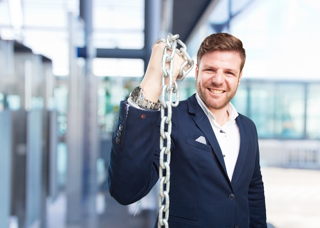 Young businessman happy expression Free Photo