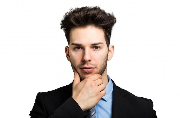 Young businessman having an idea