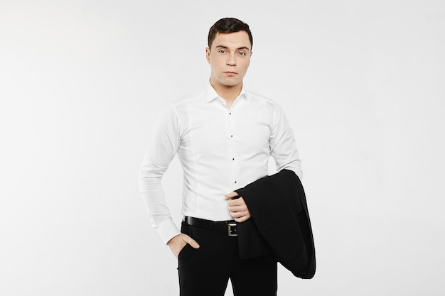 Young businessman wearing in a casual style outfit.