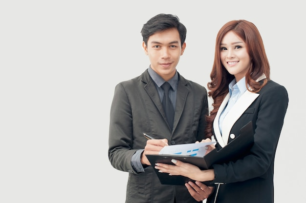 Young businessmen join the contract business