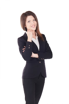 Young businesswoman - studio background