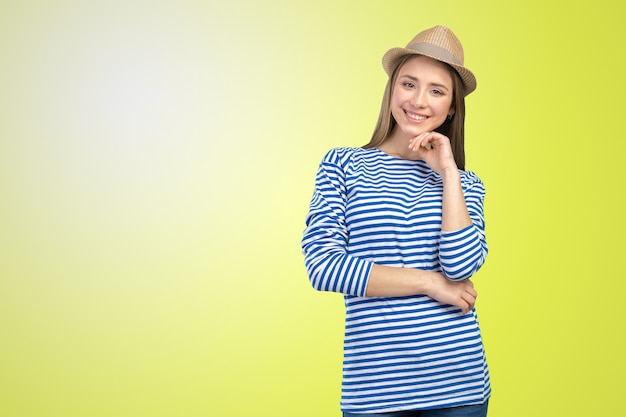 Young casual style woman portrait