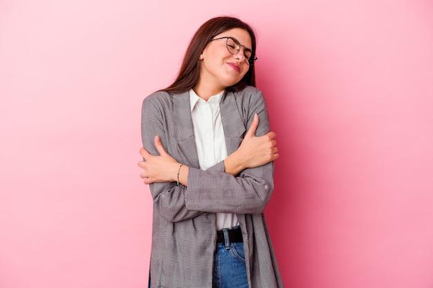 Молодая кавказская бизнес-леди изолирована