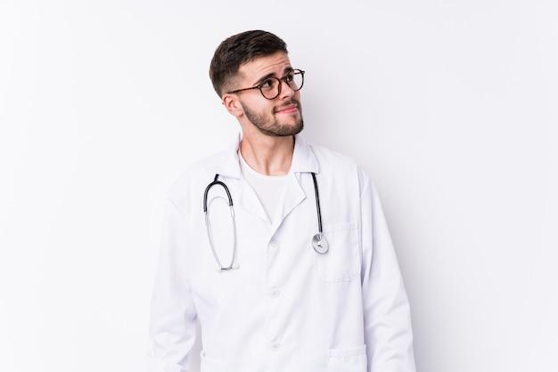 Young caucasian doctor man