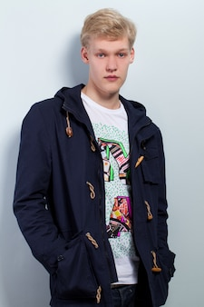 Young caucasian man in casual
