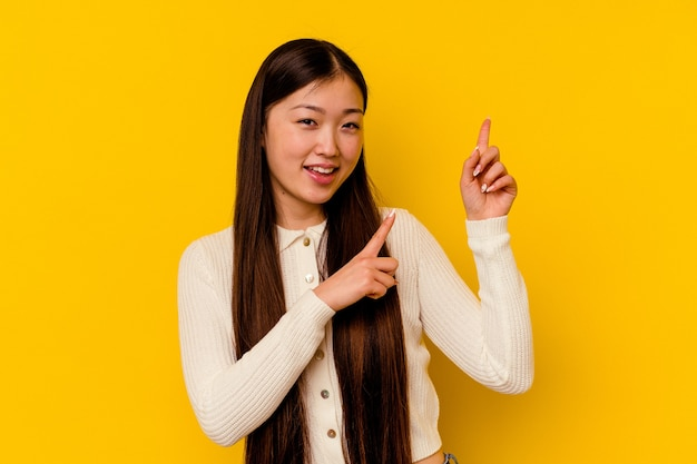 Young chinese woman  dancing and having fun.