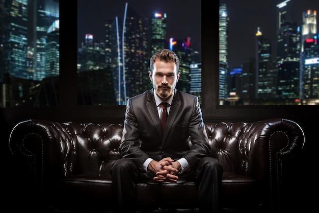Молодой уверен бизнесмен Premium Фотографии