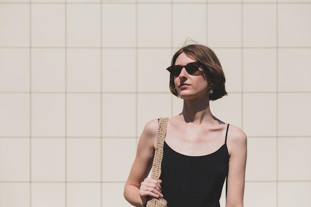 Young confident woman portrait.