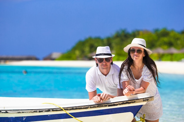 Young couple during tropical vacation