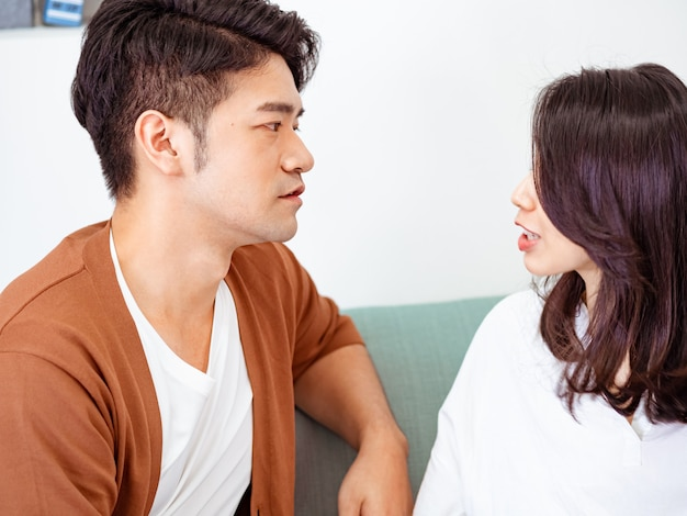 Young couple have disagreement at home.