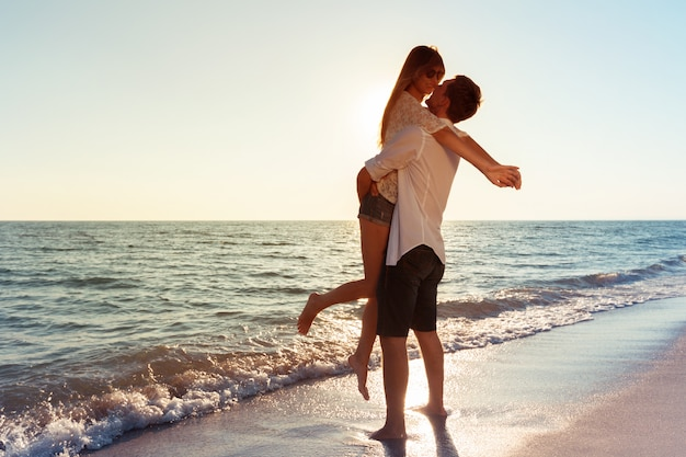 Young couple loving vacation