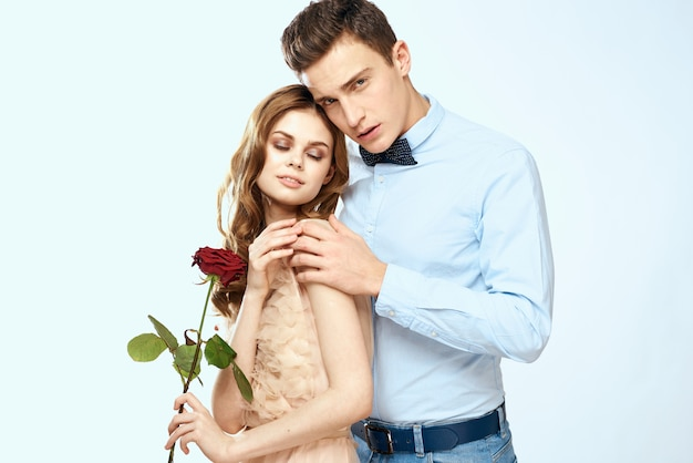 Young couple man and woman beautiful people together. man and woman romantic and sexual relationship