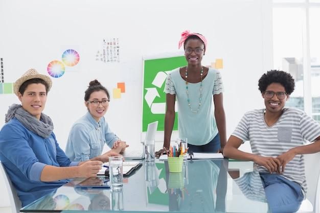 Молодой творческий коллектив, собравший совещание по переработке