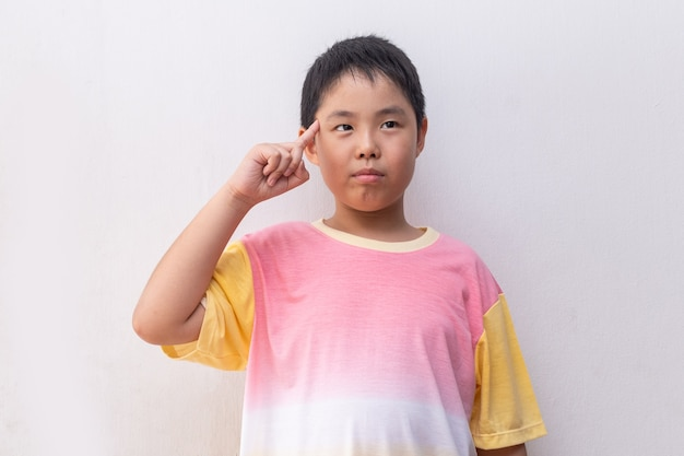 Young and cute asian boy portrait