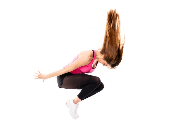 Young dance girl isolated