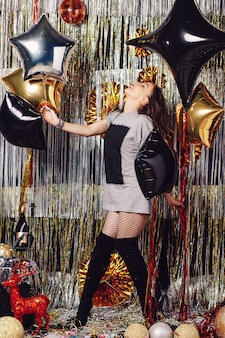 Young dancing woman