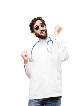 Giovane dottore danza danza