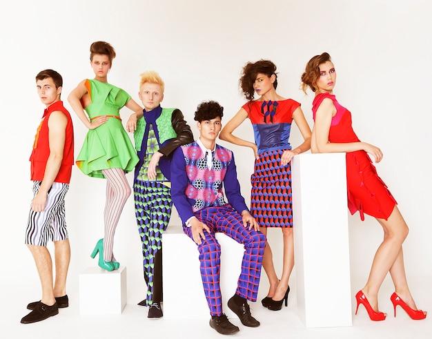 Young elegant fashion models