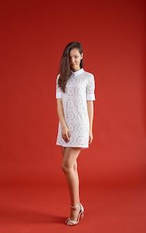 Young elegant woman, fashion studio shot